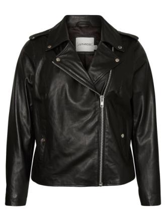 JUNAROSE Leather Jacket Women Black