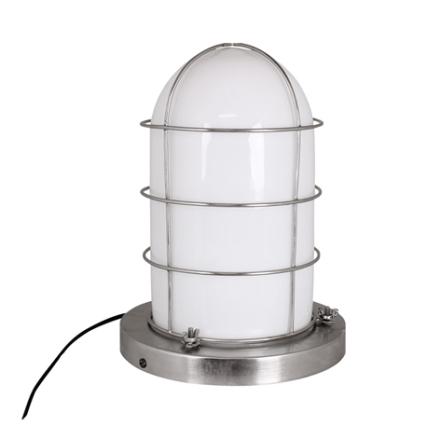 Skeppslampa Vit/Silver Stor