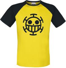 One Piece - Trafalgar Law -T-skjorte - gul, svart
