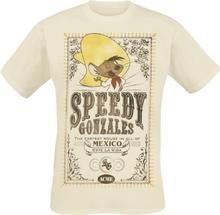 Looney Tunes - Speedy Gonzales -T-skjorte - beige