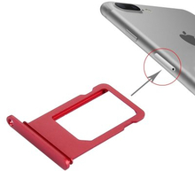 iPhone 7 Plus Simkortshållare (Färg: Röd)