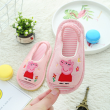 2020 New Genuine Peppa Pig Plush Toy Girl Shoes Spring Four Seasons Kids Slippers Linen Indoor Slip-proof Shoes George Hot Toys