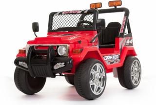 Azeno El-Bil - RØD Buffalo Jeep med Gummihjul