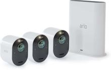 Trådlöst videoövervakningssystem Arlo Ultra - Startpaket med 3 kameror