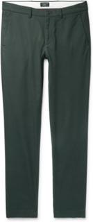 Connor Slim-fit Cotton-blend Twill Chinos - Dark green