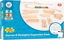 Skinnesæt NO2 - Pakke med 24 togskinner i træ