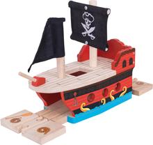 Bigjigs Togsæt - Piratskib