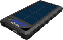 Solar PowerBank - solar power bank Li-Ion Powerbank - Czarny - 8000 mAh