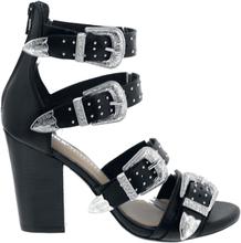 Bronx - Sandal med høyhel -Høyhælete sko - svart