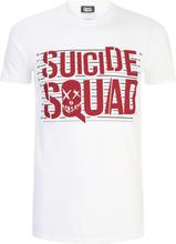 DC Comics Men's Suicide Squad Line Up Logo T-Shirt - White - S - White
