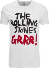 Rolling Stones Men's Logo GRRR! T-Shirt - White - S - White