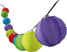 Ljusslinga Risbollar Multi LED med solcell 10-ljus