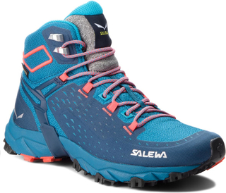 Trekking-skor SALEWA - Alpenrose Ultra Mid Gtx GORE-TEX 64417-8363 Blue Sapphire/Fluo Coral