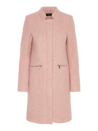 VERO MODA Wool Coat Women Pink