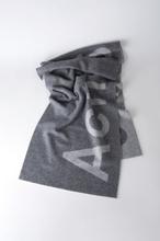 ACNE JEANS Toronty Logo Scarf, Grey