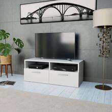 vidaXL TV-möbel spånskiva 95x35x36 cm vit