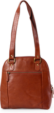 MCO Dora ryggsäck i skinn, 26 cm, Cognac