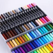 Cute Art Marker Pens 12/18/24/36/48/60/72/100 Set Colorful Ink Gen Manga Anime Watercolor Tip Brush Pen Graffiti Painting Pencil