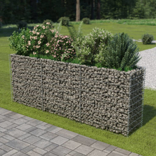 vidaXL Planteringsgabion i galvaniserat stål 270x50x100 cm