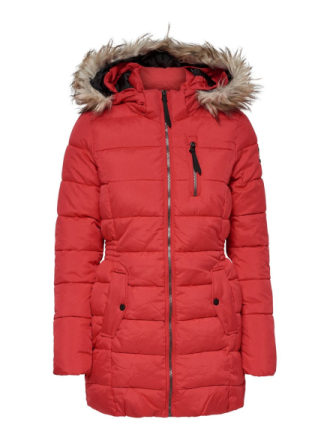 ONLY Nylon Quilted Jacket Women Red