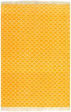 vidaXL Kelimmatta bomull 120x180 cm med mönster gul