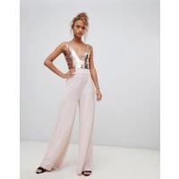 New Look - Jumpsuit med paljetter - Rosé guld