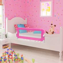 vidaXL Sängskena för barn 2 st rosa 102x42 cm