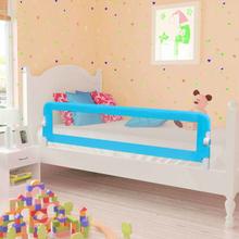 vidaXL Sängskena för barn 2 st blå 150x42 cm
