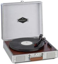 Billy Bob skivspelare med BT stereohögtalare Bluetooth silver