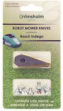 Sett med 9 reservekniver og 9 festeskruer Bosch Indego
