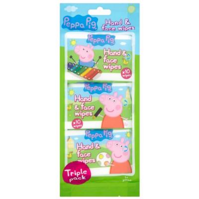 Peppa Pig Feuchttücher Gesicht & Hände 3er Pack 3 x 10 stk