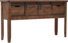 vidaXL Konsolbord massivt granträ 131x35,5x75 cm brun