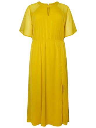 JUNAROSE Woven Ankle Dress Women Yellow