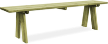vidaXL Trädgårdsbänk 170 cm impregnerad furu