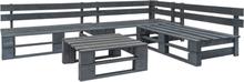 vidaXL Pallsoffa set 4 delar FSC-trä grå
