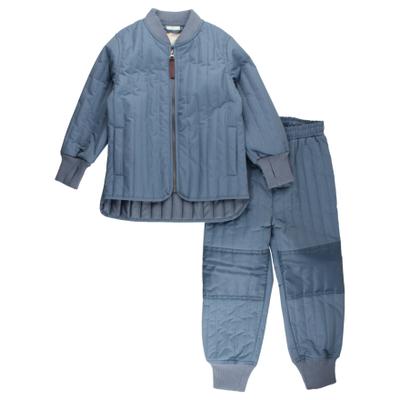 En Fant Termosett til barn, støvblå