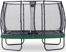EXIT trampoliini Elegant Premium 244 x 427 cm Deluxe-turvaverkolla - vihreä