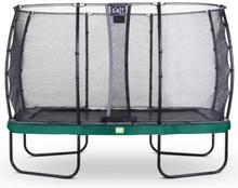 EXIT trampoliini Elegant 214 x 366 cm Economy-turvaverkolla - vihreä