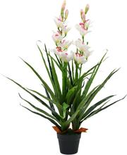 vidaXL Konstväxt Orkidé med kruka 100 cm grön