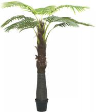 vidaXL Konstväxt palmträd med kruka 240 cm grön