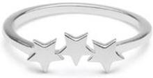Snap Ring Plain Triple Star Silver