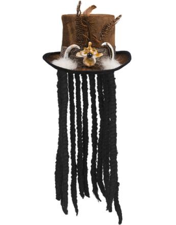 Voodoo Master - Dekorert Flosshatt med Hår