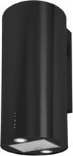 Vägghängd cylinder köksfläkt BALTIC 40 cm vit / svart/ rostfritt stål - svart - 40 cm