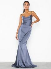Missguided Satin Cowl Neck Maxi Dress