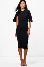 Cesca Split Sleeve Detail Wiggle Midi Dress