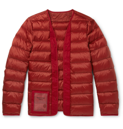 Quilted Nylon Down Liner - Red