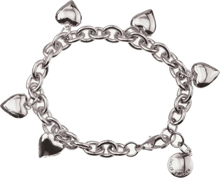 SNÖ OF SWEDEN - Card Charm Heart Bracelet Silver