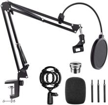 NÖRDIC Mikrofonstativ för bordsmontering passar även Blue Yeti och Blue snowball 5/8 tum adapter