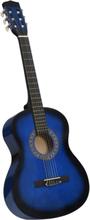 """Klassisk gitar for nybegynnere med veske 3/4 36"""" - blå"""