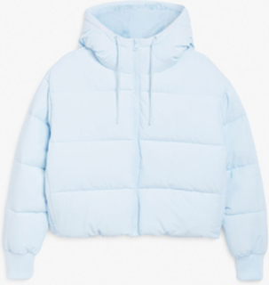 Cropped puffer jacket - Blue